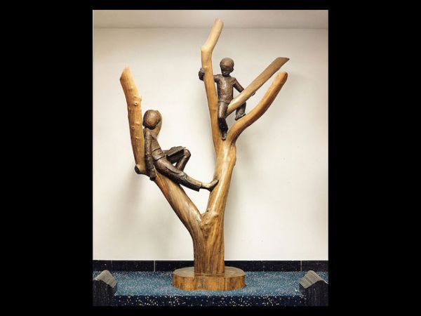 Apple Tree Children statue