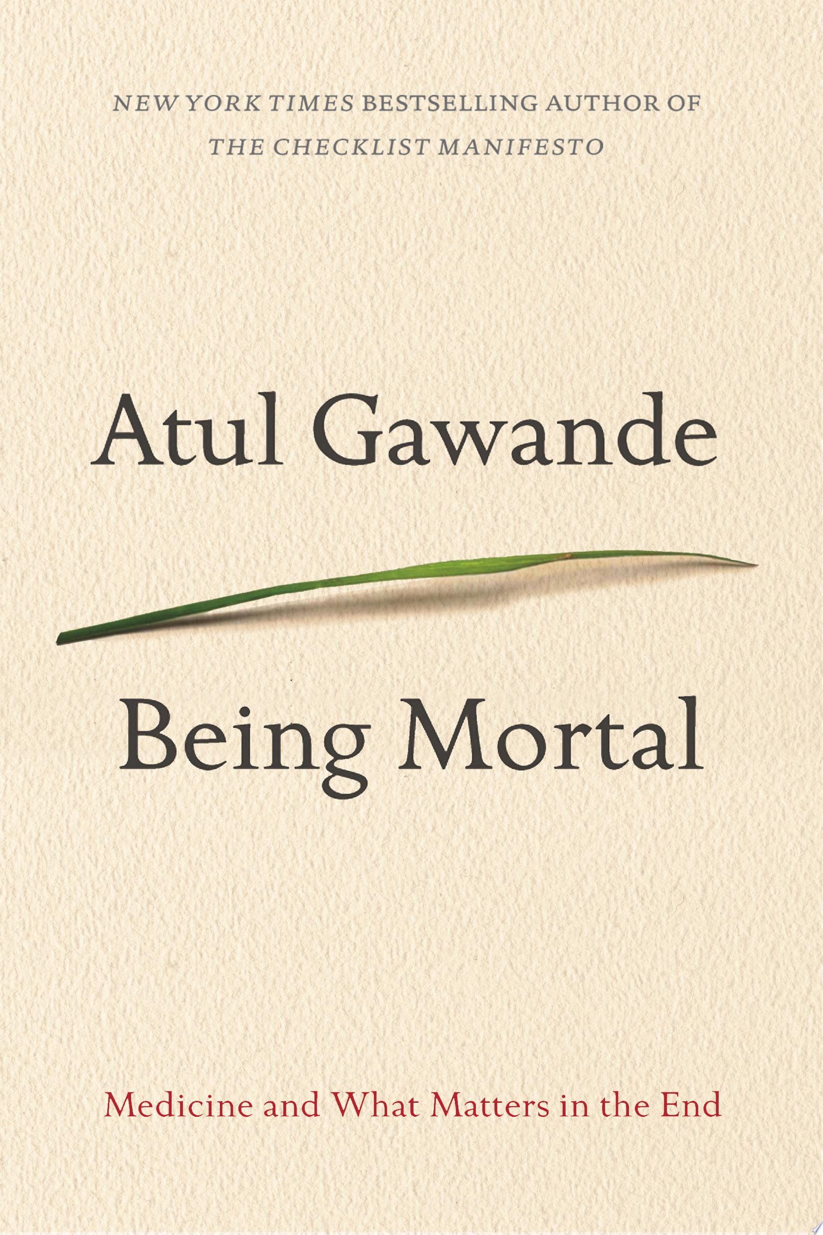 "Image for ""Being Mortal"""