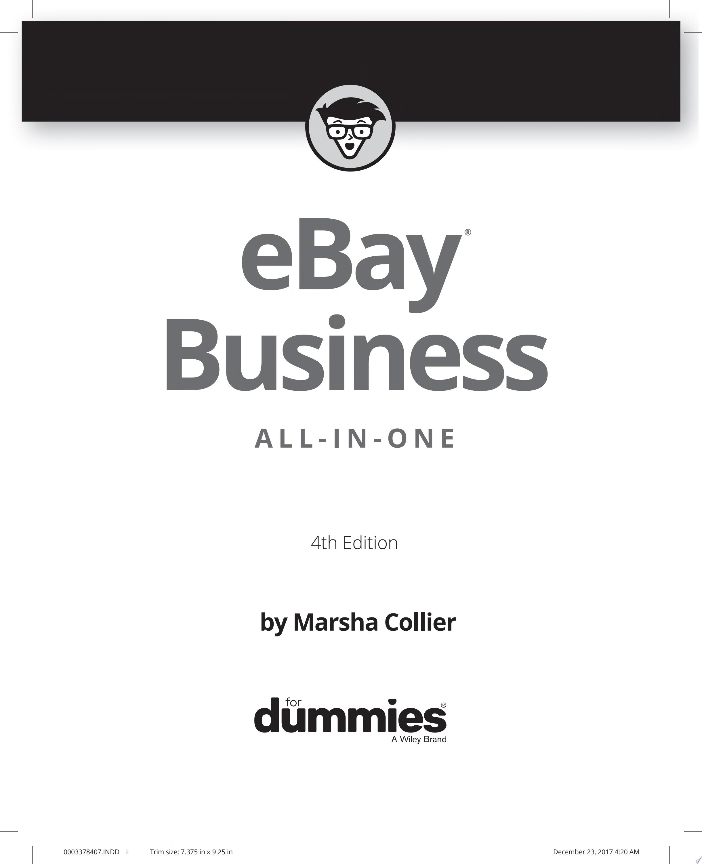 "Image for ""eBay Business All-in-One For Dummies"""
