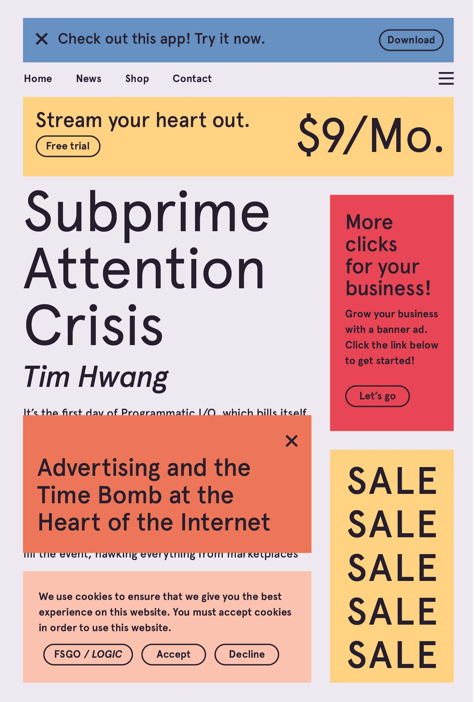 "Image for ""Subprime Attention Crisis"""