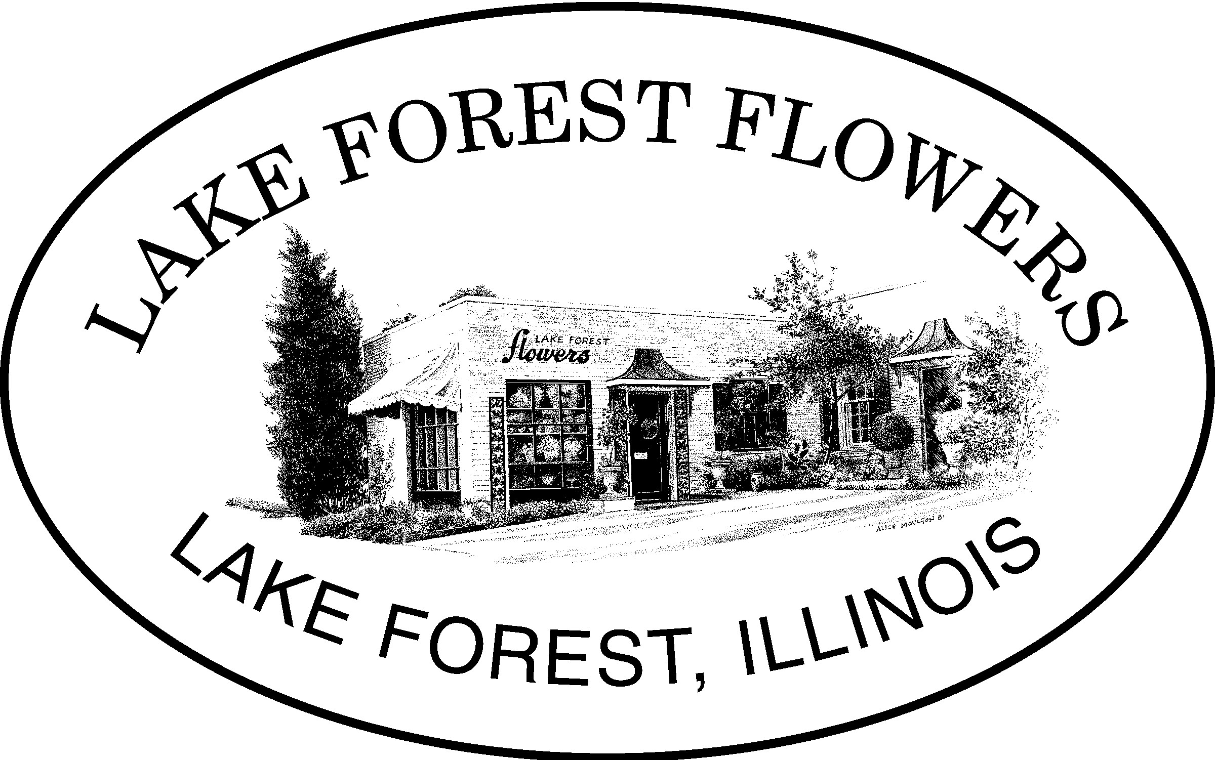 Lake Forest Flowers logo