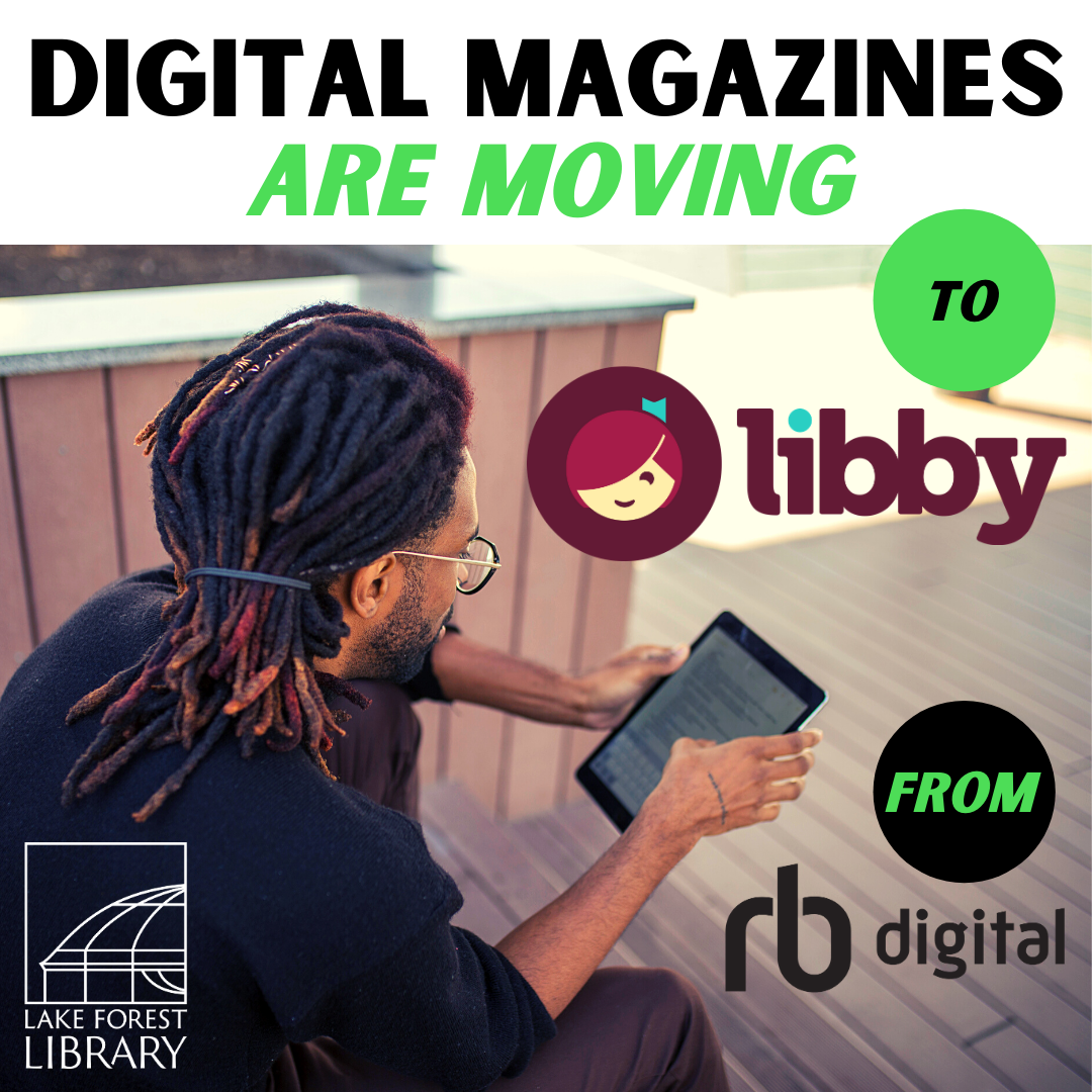 eMagazines in Libby app