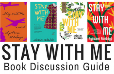 Stay with Me book discussion guide with book covers