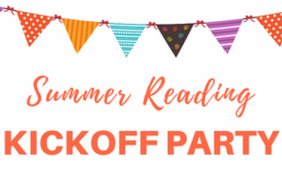 Summer Reading Kickoff Party with banners