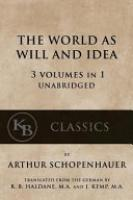Cover image for The World As Will and Idea