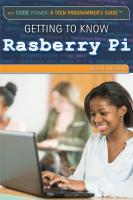 Getting to Know Raspberry Pi book cover