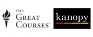 The Great Courses and Kanopy logos
